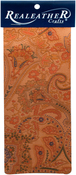 """Paisley - Realeather Crafts Goat Leather Trim Piece 9""""X3"""""""
