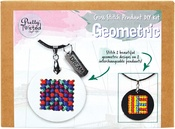 Geometric - Pretty Twisted Cross Stitch Pendant DIY Kit