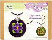 Nature - Pretty Twisted Cross Stitch Pendant DIY Kit