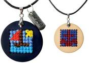 Nautical - Pretty Twisted Cross Stitch Pendant DIY Kit