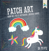 Rainbow, Star & Unicorn 3/Pkg - Momenta Iron On Embroidered Applique