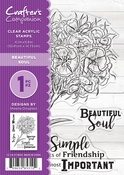"""Beautiful Soul By Sheena Douglass - Crafter's Companion Clear Stamps 4.1""""X5.8"""""""