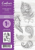"""Paisley Peacock - Crafter's Companion Clear Stamps 4.1""""X5.8"""""""