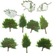Summer Tree - Eyelet Outlet Shape Brads 12/Pkg