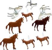 Horse - Eyelet Outlet Shape Brads 12/Pkg