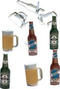 Beer - Eyelet Outlet Shape Brads 12/Pkg