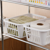 "11.25""X8""X4.25"" White - Sterilite Storage Basket"
