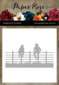 Men Sitting On Fence - Paper Rose Dies