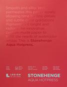 "White 140lb - Stonehenge Aqua Block Hotpress Pad 9""X12"" 15 Sheets/Pkg"