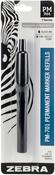 Black - Zebra Permanent Steel Marker Refill