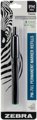 Green - Zebra Permanent Steel Marker Refill