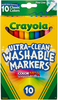 Classic Colors 10/Pkg - Crayola Ultra-Clean Fine Line Markers Crayola markers unleash the power of kids' imagination! These washable markers are specially formulated to easily wash from skin and most children's clothing. This 4.125x6.125x.5 inch package contains ten washable markers in assorted colors. Non-toxic. Conforms to ASTM D 4236. WARNING: Choking Hazard- small parts. Not for children under 3 years. Recommended for ages 3 and up. Made in USA.