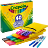 Assorted Colors 40/Pkg - Crayola Ultra-Clean Fine Line Markers Crayola markers unleash the power of kids' imagination! These washable markers are specially formulated to easily wash from skin and most children's clothing. This 8.75x6.25x1 inch package contains 40 washable markers in assorted colors. Non-toxic. Conforms to ASTM D 4236. WARNING: Choking Hazard- small parts. Not for children under 3 years. Recommended for ages 3 and up. Made in USA.
