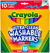 Crayola Ultra-Clean Color Max Broad Line Washable Markers - Brights