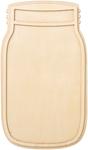 "Mason Jar Wood Shape - 10""x5.8"""