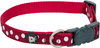 Large-Cherry & White - Petface Dots Collar 19 inches  To 28 inches The adjustable stylish collar is made with strong, but soft nylon webbing. It is gentle on a dog's skin and coat. The buckle is the strongest available to ensure your dog's safety as well as your peace of mind. The dots design is elegant and neutral. It looks great with a variety of different coat colors. Easily keep the collar clean by washing in warm water with a light soap and air dry. Attach an identification tag or a leash to the sturdy metal D ring. Not to be used with a tie-out stake. The collar measures 7/8 inch wide and adjustable 19 to 28 inches (43 to 71cm). Keep out of reach of children. Imported.