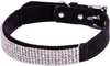 Extra Small-Black - Petface Diamante Collar 10 inches  To 12 inches The diamante style collar twinkles and sparkles in the light and lined with soft microfiber which is extra gentle on a dog's neck. The classy silver colored buckle and loop are elegant and sleek but also strong to keep your dog safe and secure. The collar is easy to keep looking clean and beautiful by simply wipe with a wet washcloth and air dry. A sturdy metal D ring is great for attaching a tag or fastening a leash. Package includes one adjustable collar, XSmall, which may fit a dog's neck approximately 10 to 12 inches (25 to 30cm) in diameter. Color: Black. Keep out of reach of children. Imported.