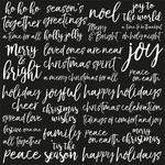 Gloss Joyful Spot Varnish Paper - Peace & Joy - KaiserCraft