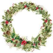 Leafy Wreath Die-cut Paper - Peace & Joy - KaiserCraft