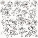 Gloss Roses Spot Varnish Sheet - Peachy - KaiserCraft