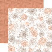 Honey Flower Paper - Peachy - KaiserCraft