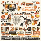 Simple Vintage Halloween Combo Sticker Sheet - Simple Storiesa