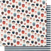 Happy Fall Paper - Forever Fall - Simple Stories - PRE ORDER