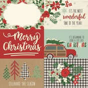 4x6 Horizontal Element Paper - Merry & Bright - Simple Stories
