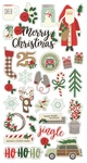Merry & Bright Chipboard Stickers - Simple Stories - PRE ORDER