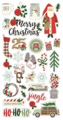 Merry & Bright Chipboard Stickers - Simple Stories