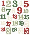Merry & Bright Numbers Die-Cuts - Simple Stories