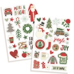 Merry & Bright Puffy Stickers - Simple Stories