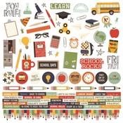 Simple Sets School Rocks! Cardstock Stickers - Simple Stories