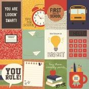 3x4 Element Paper - School Rocks - Simple Stories