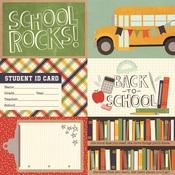 4x6 Horizontal Element Paper - School Rocks - Simple Stories
