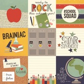 4x4 Element Paper - School Rocks - Simple Stories