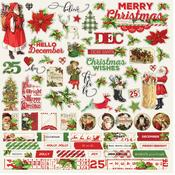 Combo Sticker Sheet - Simple Vintage Christmas - Simple Stories