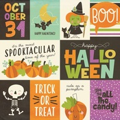 3x4 & 4x6 Element Paper - Happy Halloween - Simple Stories