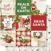 4x4 Elements Paper - Simple Vintage Christmas - Simple Stories