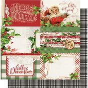 4x6 Horizontal Elements Paper - Simple Vintage Christmas - Simple Stories
