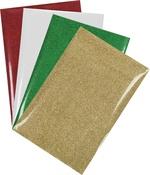 "Assorted - HTV Crafts Glitter Iron-On Vinyl 12""X8"" 4/Pkg"