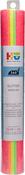"Assorted Fluorescent - HTV Crafts Glitter Iron-On Vinyl 12""X8"" 4/Pkg"