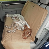 "Tan - Petego Rear Car Seat Protector 51""X43"""