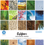 "Outdoors - Colorbok 68lb Designer Single-Sided Paper 12""X12"" 50/Pkg"