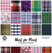"Mad For Plaid - Colorbok 68lb Designer Single-Sided Paper 12""X12"" 50/Pkg"