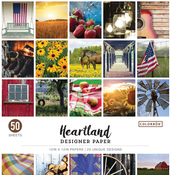 "Heartland - Colorbok 68lb Designer Single-Sided Paper 12""X12"" 50/Pkg"