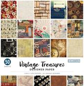 """Vintage Treasures - Colorbok 68lb Designer Single-Sided Paper 12""""X12"""" 50/Pkg"""