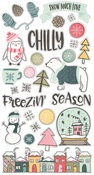 Freezin Season Chipboard Stickers - Simple Stories
