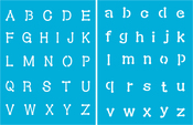 "Connect The Dots - Americana Alphabet Stencils 8.5""X11"""