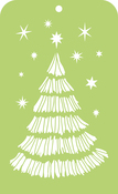 "Christmas Tree - Kaisercraft Mini Designer Templates 3.5""X5.75"""